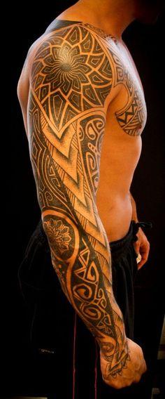 Polynesian Maori Tattoos: Meaning of tribal motifs - tattoos - Tatouage Maori Tattoos, Tatuajes Tattoos, Weird Tattoos, Samoan Tattoo, Great Tattoos, Beautiful Tattoos, Body Art Tattoos, New Tattoos, Tattoos For Guys