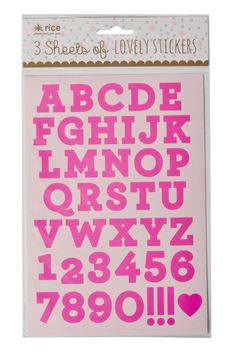 3 sheets of stunning neon pink or gold foil letters and numbers. Give presents books and stationary a little extra bling or write a bold statement on your mirror with these lovely stickers.  LENGTH: 25 CM WIDTH: 15 CM  Letters And Numbers by RICE. Home & Gifts - Gifts & Things London