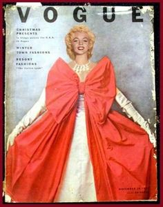 "Vintage Marilyn ""Vogue"" magazine cover"