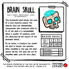 """rpgtoons: """" SUNDAY LOOT Item cards in collaboration with ~ More of our stuff here! Dungeons And Dragons Homebrew, D&d Dungeons And Dragons, Dnd 5e Homebrew, Dnd Monsters, Tabletop Rpg, Dnd Characters, Pen And Paper, Home Brewing, Beer Brewing"""
