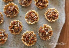 Mini Pecan Phyllo Tarts | Skinnytaste. I have a problem - I can't stop pinning her recipes.