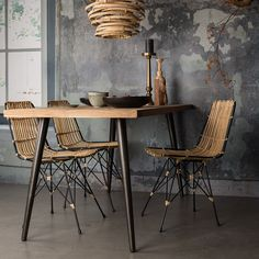 Add a natural element to your interior with the Dutchbone Kubu Rattan Pendant Lamp. Decor, Rattan Lamp, Furniture, Lamps Living Room, Rattan Dining Chairs, Beautiful Kitchens, House Interior, Dining Table, Home Deco