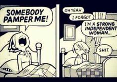 Someone pamper me...