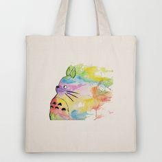 My Rainbow Totoro Tote Bag by Alisha Ann - $18.00