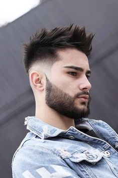 Classy Quiff With Spikes ❤️ Looking for staggering, creative, and masculine mens hairstyles that will make you stand. Mohawk Hairstyles Men, Trendy Mens Hairstyles, Easy Hairstyles For Medium Hair, Female Hairstyles, Hairstyles Videos, Hairstyle Men, Black Hairstyles, Mens Spiked Hairstyles, Sponge Hairstyles