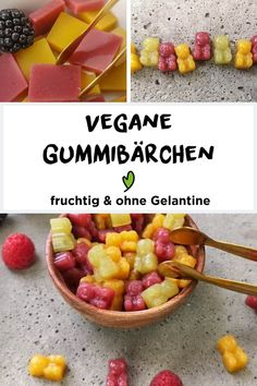 Vegane fruchtige Gummibärchen Gummy bears, bounce here and there and everywhere . Who doesn't love these incredibly delicious fruit gummy bears? We show you how to make these delicious snacks Health Snacks, Health Desserts, Delicious Fruit, Yummy Snacks, Dessert Nouvel An, Baby Food Recipes, Vegan Recipes, Nutrition, Homemade Baby Foods