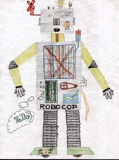 drawing robots kids - Google Search
