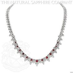 Magnificent Platinum, Ruby and Diamond Necklace.