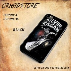Silver SaganSnap on Black White and 3D Iphone 4/4S Case