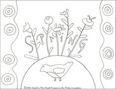 """""""Robin"""" free doodle from Bird in the Hand Primitives"""