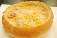 Southwestern Corn Chowder in a Bread Bowl