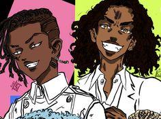 Black Cartoon Characters, Cartoon Art, Black Girl Art, Art Girl, Black Artwork, Anime Best Friends, Dark Elf, African American Art, Black Love