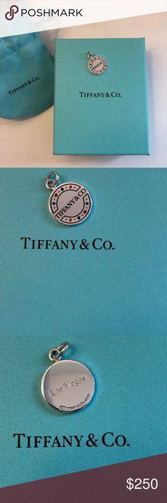 "25143bc4effc NWOT Tiffany   Co Poker Chip Charm Brand new sterling silver ""poker chip""  charm"