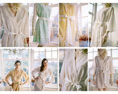 3 Lace robes READY TO SHIP Great as bridal robes by SingingSlowly