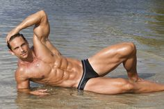 Fitness Model David Morin for T Fabiano Brasil collection 2014. Photography by Dale Stine.