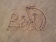 Anchors Away  2ft rope name with nautical by StampedeRopeArt, $85.00