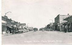 Minnesota Postcard Twin Valley Street Scene Chevrolet Garage with Gas Pumps | eBay