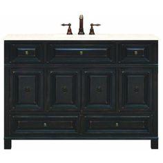"Sunny Wood BH4821D Barton Hill 48"" Wood Vanity Cabinet Only, Antique Black Sunny Wood http://www.amazon.com/dp/B002IKOVZK/ref=cm_sw_r_pi_dp_Po4exb0AE3HJT"