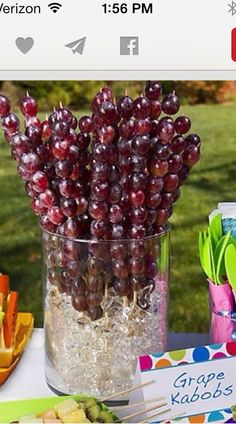 Grape kabobs
