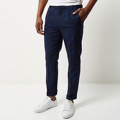 Men's sale - check out River Island's latest sale items available online. Mens Sale, Trousers, Pants, River Island, Slim, Navy, Shopping, Fashion, Hale Navy