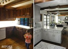 A Final Before and After of the Downstairs of Our Last House   Dear Lillie   Bloglovin'