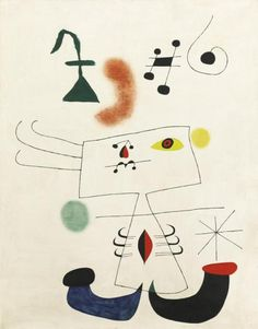 Joan Miro (1893-1983) Woman dreaming of escape 1945 (146 by 114cm)