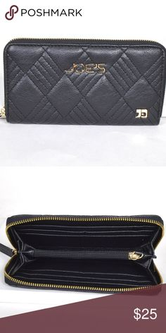 """🆕 Joe's Wallet in Black Joe's Black Wallet - NEW Imported Size: 7.5""""Lx4""""W Fabric: 100% Polyester Black Joe's Jeans Bags Wallets"""