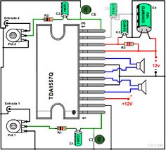 Drawing the amplifier with Electronic Circuit Design, Electronic Parts, Electronic Engineering, Electrical Engineering, Electronics Projects, Electronics Basics, Hifi Amplifier, Audiophile, Loudspeaker