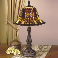 Dale Tiffany Lamps Revival Francesca  Table Lamp in Fieldstone - TT100586