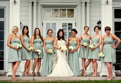 All different styles in hemlock  Damas de honor en color #hemlock #Bridesmaids #dress #Wedding #YUCATANLOVE