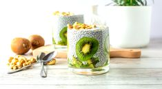 Chia Puding, Kiwi, Ale, Candle Holders, Candles, Tableware, Dinnerware, Dishes, Ales