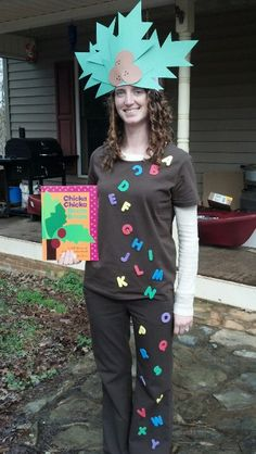 Book character dress up day as chicka chicka boom boom. I had so much fun today and people loved my costume!