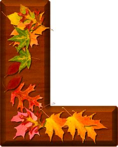 Presentation Alphabets: Cherry Wood Leaves Letter L