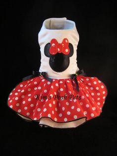 Perro vestido _ rojo Minnie Mouse vestido _ perro por KimsPoshPets