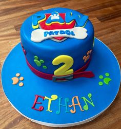 Paw Patrol birthday cake from Partybakes