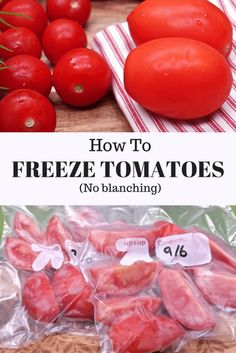 How To Select Little One Dresses How To Freeze Tomatoes No Blanching Divas Can Cook Freezing Vegetables, Frozen Vegetables, Fruits And Veggies, Freezing Fruit, Canning Food Preservation, Preserving Food, Preserving Tomatoes, Canning Tomatoes, Storing Tomatoes