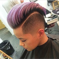 Hawk - love the accentuated parting