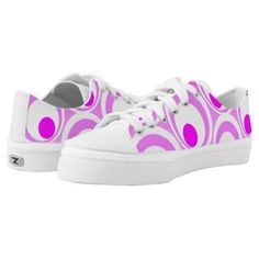 Vibrant Pink Abstract circles Low-Top Sneakers - trendy gifts cool gift ideas customize