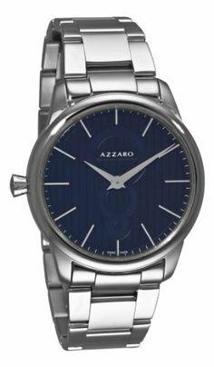 Azzaro Men's AZ2060.12BM.000 Legand Black Dial Bracelet Watch Azzaro. $171.98. Water-resistant to 99 feet (30 M). Round stainless-steel case. Black dial. Quartz movement. Stainless-steel bracelet