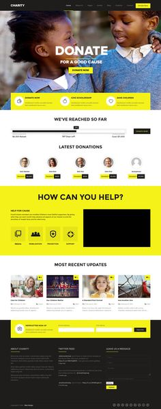 10+ BEST Charity WordPress Themes of 2014 #nonprofit #ngo #webdesign