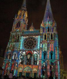 Chartres during the Festival of Lights ( Fête de la Lumière) ~ France