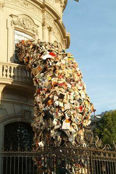 "The series of sculptures ""Biografías"" by Spanish artist Alicia Martin, based in Madrid, who uses thousands of books to create some incredible and impressive i"