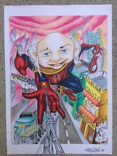 O verdadeiro homem aranha, mestre dos magos, Del Arkivo Lastigha new school