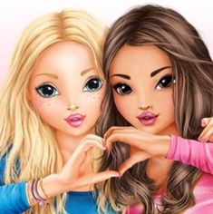 Candy & Hayden ( Lara et Mya ) Best Friend Drawings, Girly Drawings, Cartoon Drawings, Best Friend Pictures, Bff Pictures, Best Frends, Cute Girl Drawing, Cartoon Drawing Tutorial, Best Friends Forever