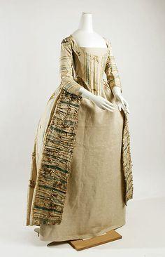 Dress Date: 1770–75 Culture: German Medium: silk, metallic threads Accession Number: C.I.61.11