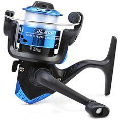 סלילים דיג 3 מיסבים כדוריים JL200 אלקטרוליטי 5.2/1 גלגל מסתובב סליל חוט דיג ידית Exchangable עם חוט דיג