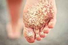 Glitter or a better idea ...baby girl feet- use pink glitter!