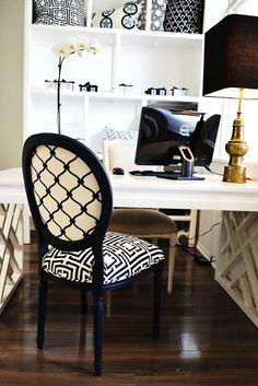 do my office like this. white & black, my fav!