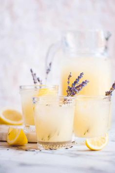 25 Perfect Summer Cocktails - Lavender Lemonade Cocktail from Champagne and Paper Planes