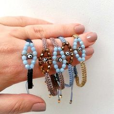 evil eye bracelet in many color combos - beaded evil eye bracelet - macrame boho jewelry - evil eye jewelry
